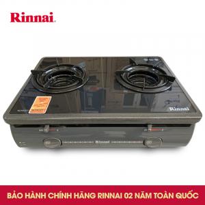 Bếp gas 6 tấc Rinnai RV-5600-SCH(BK), Mặt kính đánh lửa IC