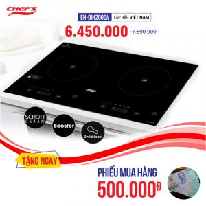 Bếp từ đôi cảm ứng CHEFS EH-DIH2000A