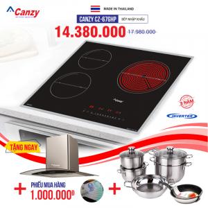 Bếp từ đôi hồng ngoại 3 lò cảm ứng CANZY CZ-67GHP