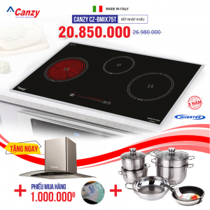 Bếp từ đôi hồng ngoại 3 lò cảm ứng CANZY CZ-BMIX75T