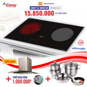 Bếp từ đôi hồng ngoại cảm ứng CANZY CZ-MIX823