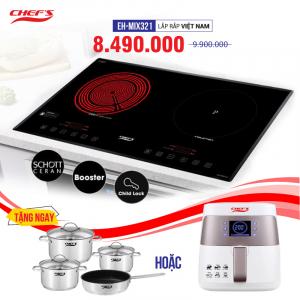 Bếp từ đôi hồng ngoại cảm ứng CHEFS EH-MIX321