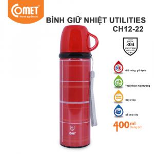 Bình giữ nhiệt Utilities 400ml Comet CH12-22 - Đỏ