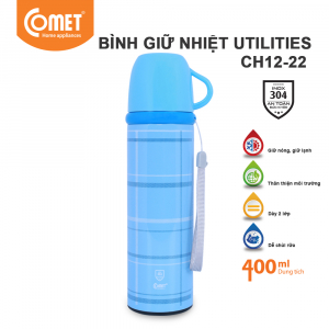 Bình giữ nhiệt Utilities 400ml Comet CH12-22 - Xanh