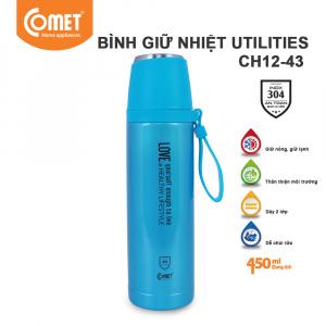 Bình giữ nhiệt Utilities 450ml Comet CH12-43 - Xanh Dương