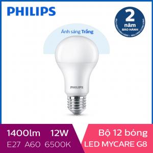 Bộ 12 Bóng đèn Philips LED MyCare 12W 6500K E27 A60 - Ánh sáng trắng