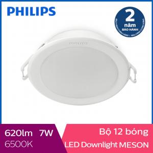 Bộ 12 Đèn Downlight âm trần Philips 59202 Meson 7W 6500K- Ánh sáng trắng