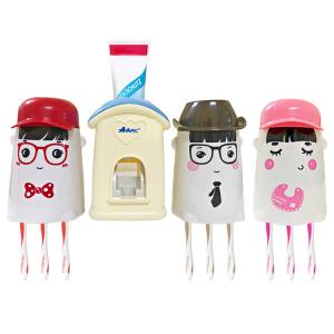 Bộ dụng cụ lấy kem tự động kèm 3 giá treo bàn chải AAPEC E1502