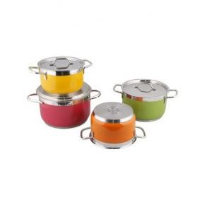 Bộ nồi cao cấp Sắc màu Fivestar Inox 8 món - FS08CM