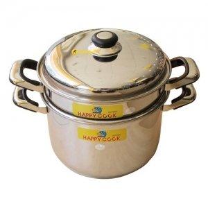 Bộ nồi xửng inox Happy Cook ST26