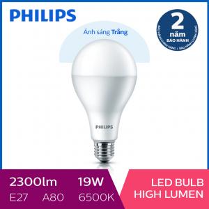 Bóng đèn Philips LED công suất cao 19W 6500K E27 A80 - Ánh sáng trắng