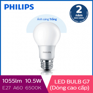 Bóng đèn Philips LED Gen7 10.5W 6500K E27 A60 - Ánh sáng trắng