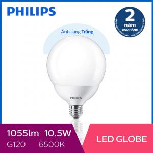 Bóng đèn Philips LED Globe 10.5W 6500K E27 G120 - Ánh sáng trắng