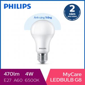Bóng đèn Philips LED MyCare 4W 6500K E27 A60 - Ánh sáng trắng