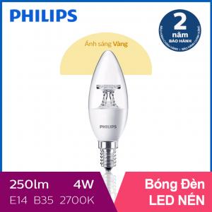 Bóng đèn Philips LED Nến 4W 2700K E14 B35 - Ánh sáng vàng