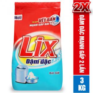 Bột Giặt LIX EXTRA Đậm Đặc 3KG Tẩy Sạch Vết Bẩn Mạnh Gấp 2 Lần