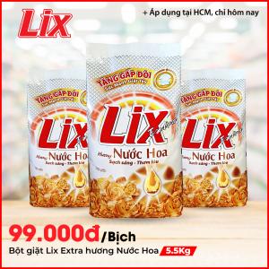 Bột giặt Lix Extra hương nước hoa 5.5Kg - EH055