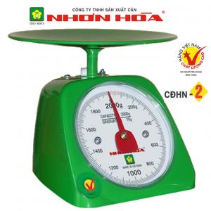 Cân nhựa đồng hồ Nhơn Hòa 2Kg CĐHN-2, Mặt tròn