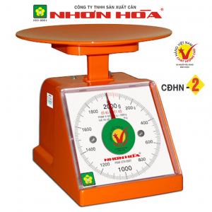 Cân nhựa đồng hồ Nhơn Hòa 2Kg CĐHN-2, Mặt vuông