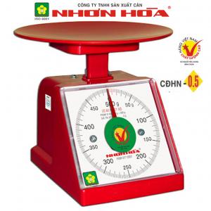 Cân nhựa đồng hồ Nhơn Hòa 500g CĐHN-0.5, Mặt vuông
