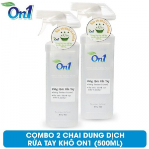 COMBO 2 chai Dung dịch rửa tay khô On1 500ml hương BamBoo Charcoal - 2-DB500