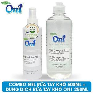 COMBO 2 chai Gel rửa tay khô sạch khuẩn On1 500ml + 250ml - FR509 + DB250
