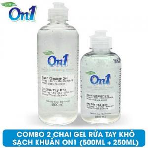 COMBO 2 chai Gel rửa tay khô sạch khuẩn On1 500ml + 250ml - FR509 + FR267