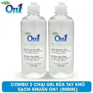 COMBO 2 chai Gel rửa tay khô sạch khuẩn On1 500ml hương Fresh Sakura - 2-FR509