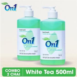 COMBO 2 chai Nước rửa tay sạch khuẩn On1 500ml hương White Tea - 2-RT503