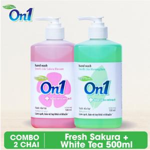 Combo 2 chai Nước rửa tay sạch khuẩn On1 500ml - RT501 + RT503