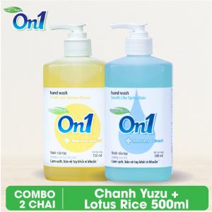 COMBO 2 chai Nước rửa tay sạch khuẩn On1 500ml - RT502 + RT500