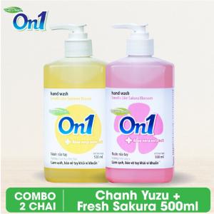 COMBO 2 chai Nước rửa tay sạch khuẩn On1 500ml - RT502 + RT501