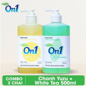 COMBO 2 chai Nước rửa tay sạch khuẩn On1 500ml - RT502 + RT503