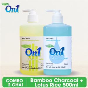 COMBO 2 chai Nước rửa tay sạch khuẩn On1 500ml - RT504 + RT500