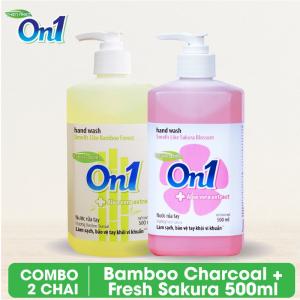 COMBO 2 chai Nước rửa tay sạch khuẩn On1 500ml - RT504 + RT501