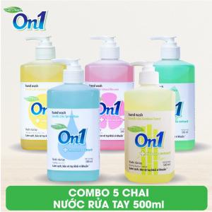 COMBO 5 chai Nước rửa tay sạch khuẩn On1 500ml - 5-NRT