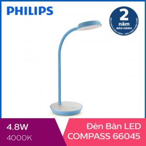 Đèn bàn Philips LED Compass 66045 4.8W (Xanh dương)