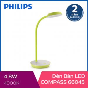 Đèn bàn Philips LED Compass 66045 4.8W (Xanh lá)