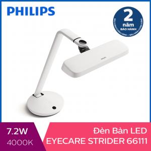 Đèn bàn Philips LED EyeCare Strider 66111 7.2W (Trắng)