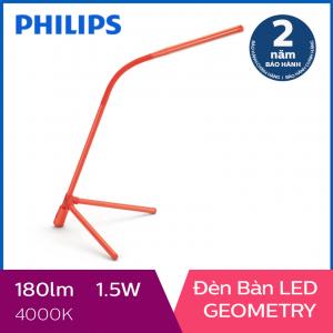 Đèn bàn Philips LED Geometry 66046 1.5W (Đỏ)
