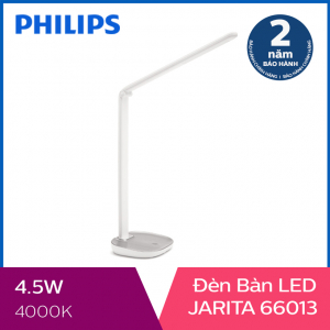 Đèn bàn Philips LED Jarita 66013 4.5W (Bạc)