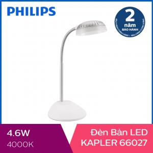 Đèn bàn Philips LED Kapler 66027 4.6W (Trắng)