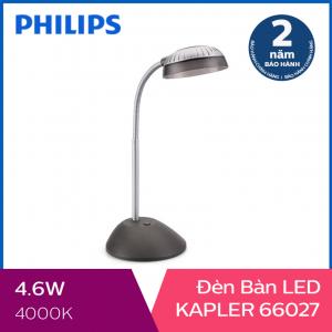 Đèn bàn Philips LED Kapler 66027 4.6W (Xám đậm)