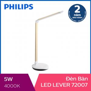 Đèn bàn Philips LED Lever 72007 5W (Vàng)