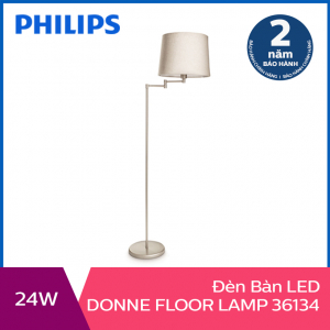 Đèn đứng trang trí Philips Donne 36134 tặng 01 bóng đèn Philips LED Scene Switch 2 cấp độ ánh sáng vàng