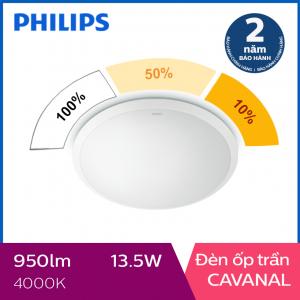 Đèn ốp trần Philips LED 3 cấp độ sáng Cavanal 31808 13.5W 4000K- Ánh sáng trung tính