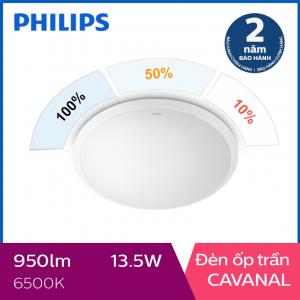 Đèn ốp trần Philips LED 3 cấp độ sáng Cavanal 31808 13.5W 6500K- Ánh sáng trắng