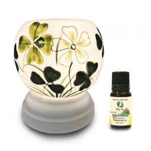 Đèn xông tinh dầu gốm Bát Tràng - Tứ Diệp Thảo