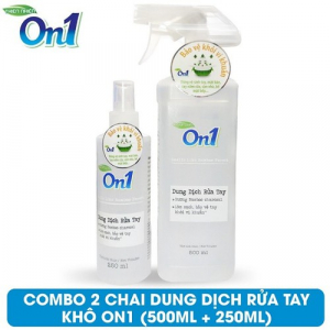 Dung dịch rửa tay khô On1 500ml + 250ml - DB500 + DB250