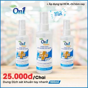 Dung dịch sát khuẩn tay nhanh On1 Protect hương BamBoo Charcoal chai xịt 100ml C0201